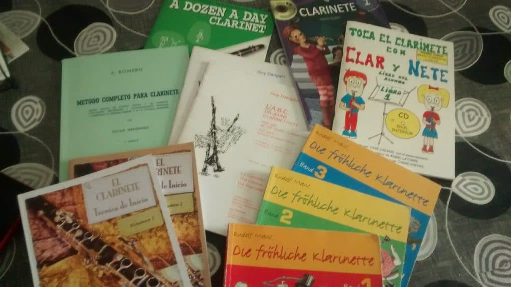 Mejores libros sobre el clarinete Ejercicios y partituras